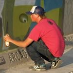Készül a grafitti